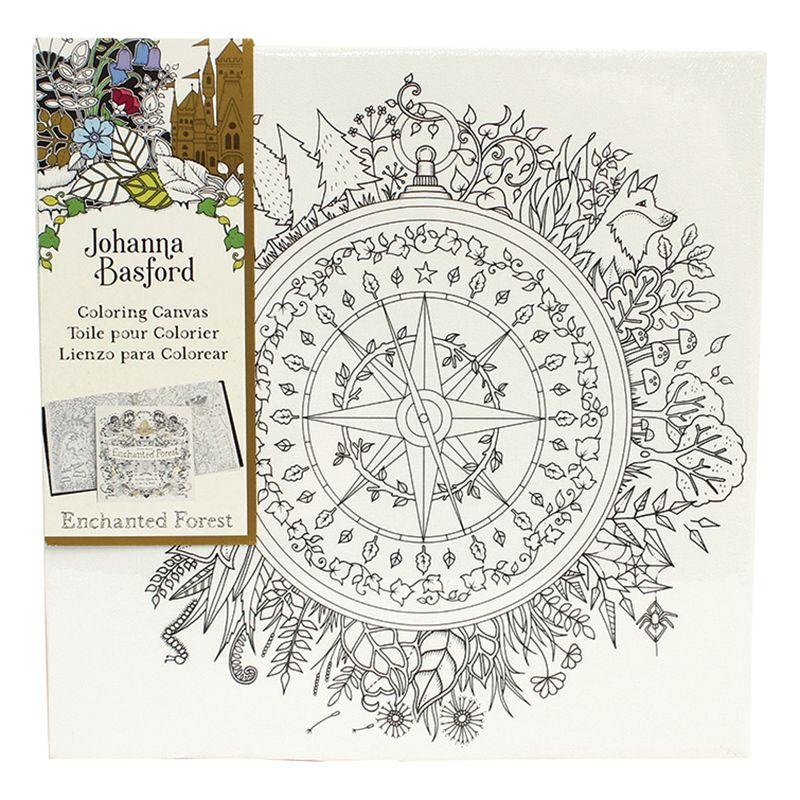 Johanna Basford Enchanted Forest Compass Colouring Canvas At John Lewis