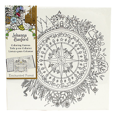Buy Johanna Basford Enchanted Forest Compass Colouring Canvas Online At Johnlewis