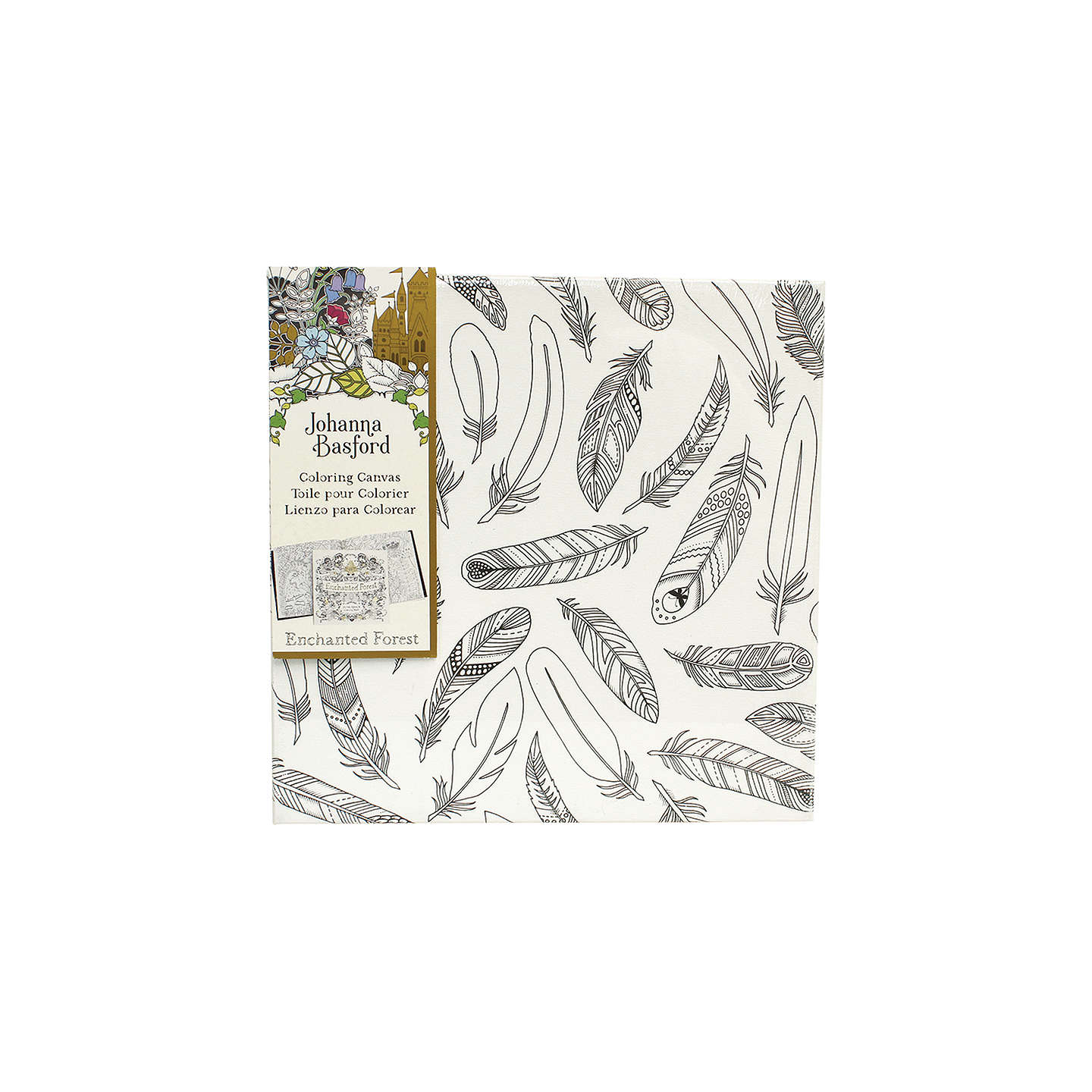 BuyJohanna Basford Enchanted Forest Feathers Colouring Canvas Online At Johnlewis