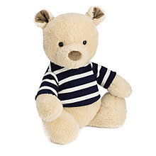 Buy Jellycat Breton Teddy Bear Soft Toy, One Size, Beige Online at johnlewis.com