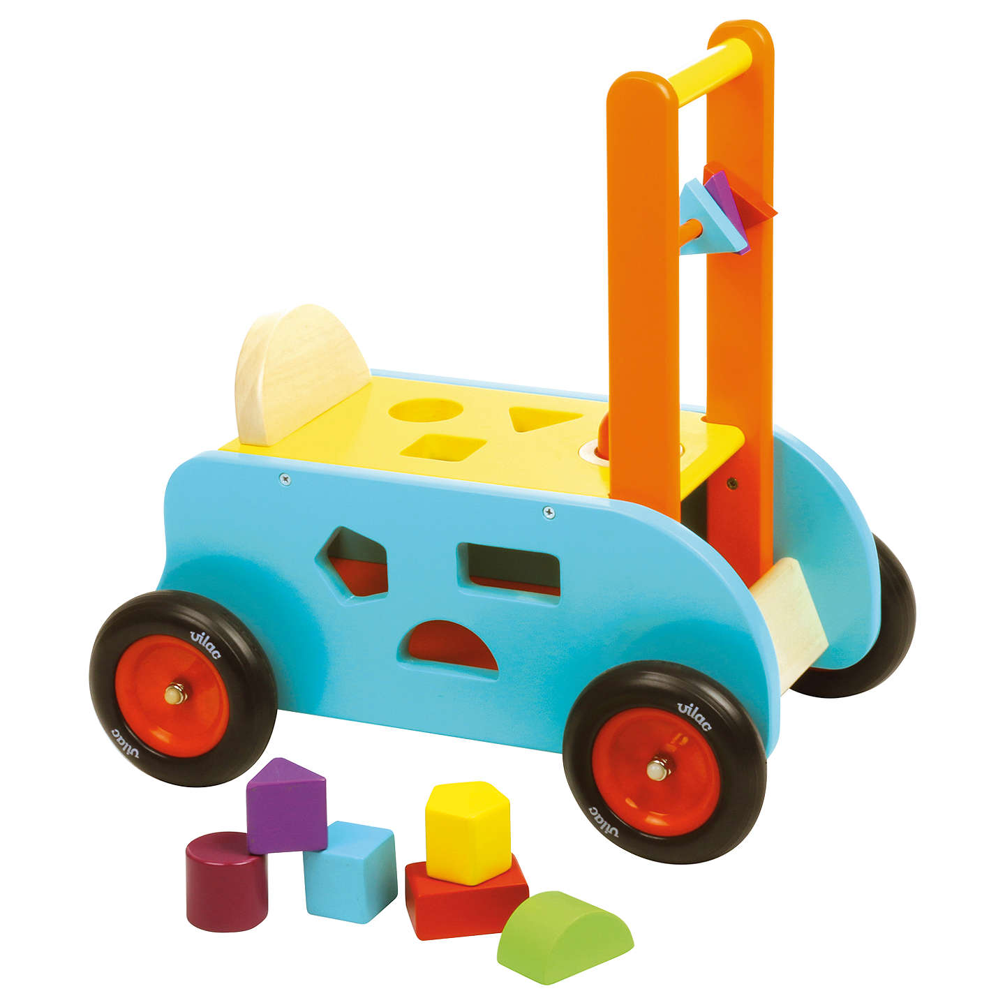 Vilac Wooden 3-in-1 Multi Activity Ride On Cart and Walker at John Lewis