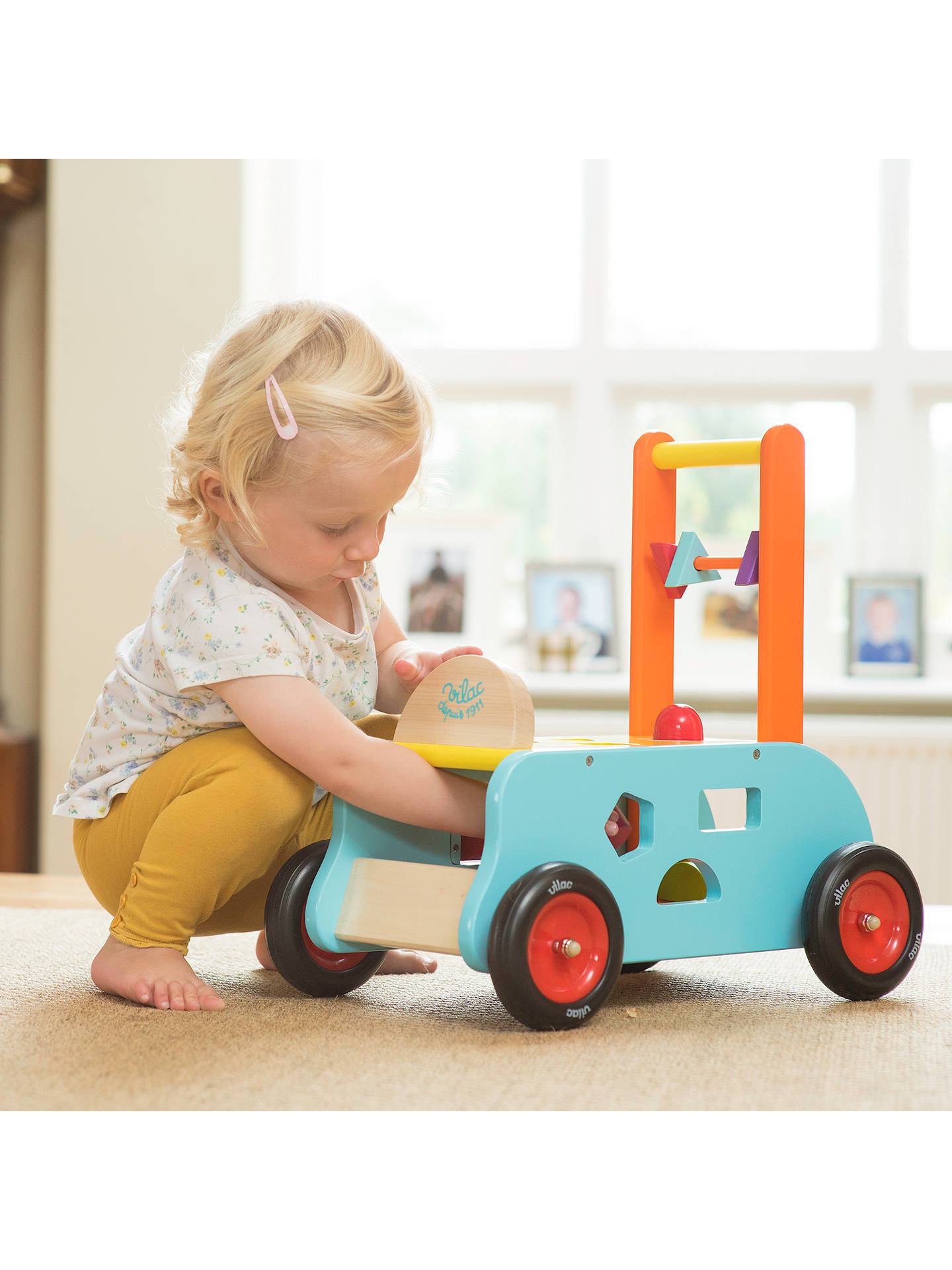 Pull Toy Learning Along Walking Toys Wooden Baby Walker Toddler Toys FI