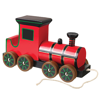 Image of Orange Tree Baby Steam Train Pull Along Wooden Toy