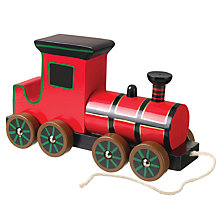 Buy Orange Tree Baby Steam Train Pull Along Wooden Toy Online at johnlewis.com