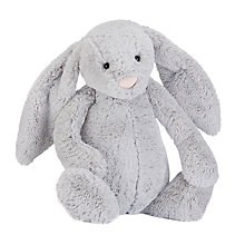 Buy Jellycat Bashful Bunny Soft Toy, Really Big, Silver Online at johnlewis.com