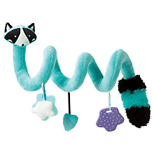 Buy Manhattan Toy Activity Spiral Raccoon Toy, Bright Blue Online at johnlewis.com