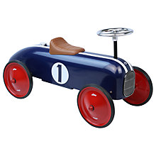 Buy Vilac Metal Ride On Classic Car, Blue Online at johnlewis.com