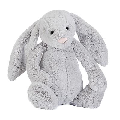 Jellycat Bashful Bunny Soft Toy, Huge, Silver