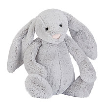 Buy Jellycat Bashful Bunny Soft Toy, Huge, Silver Online at johnlewis.com