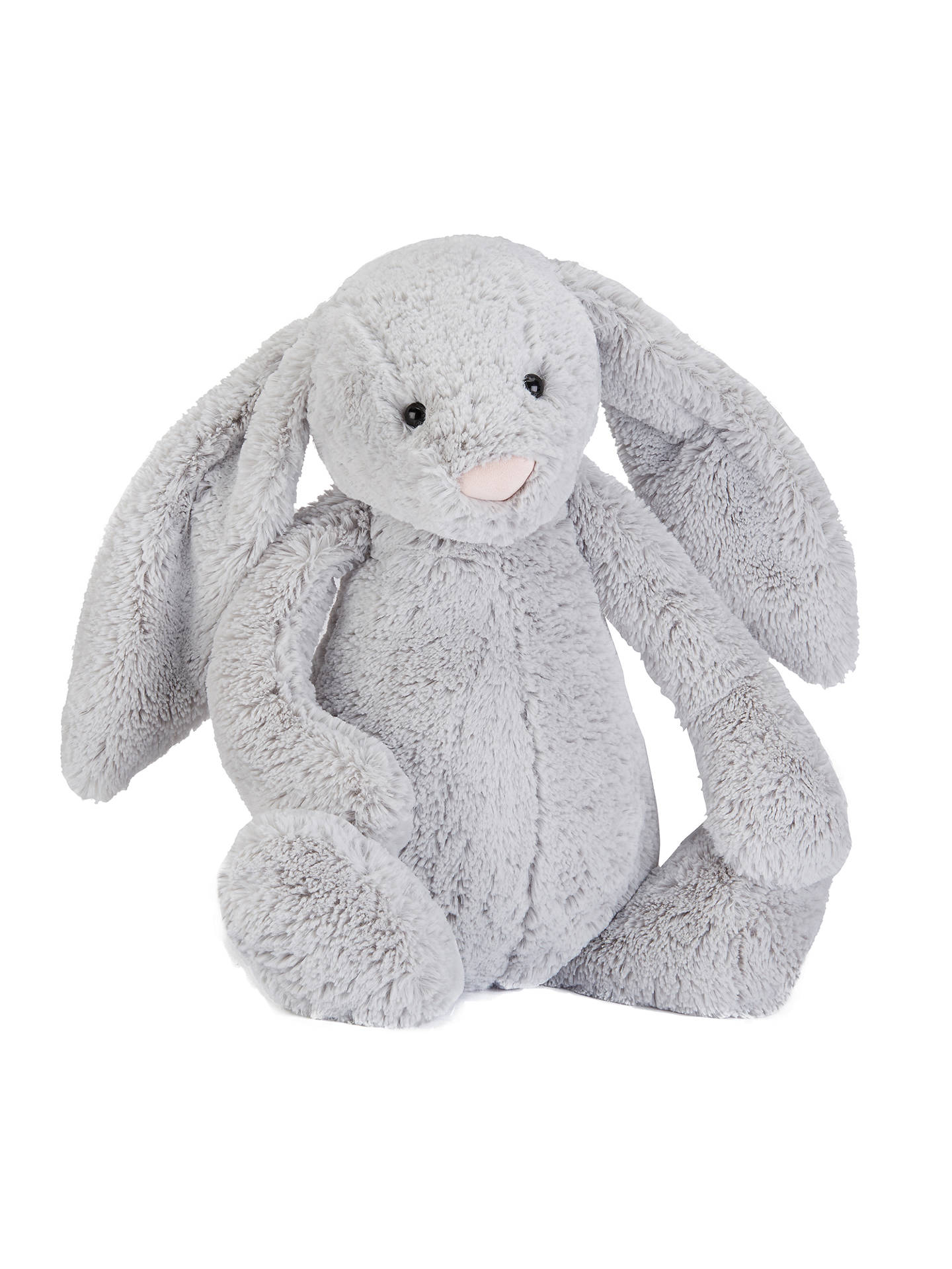 BuyJellycat Bashful Bunny Soft Toy, Huge, Silver Online at johnlewis.com