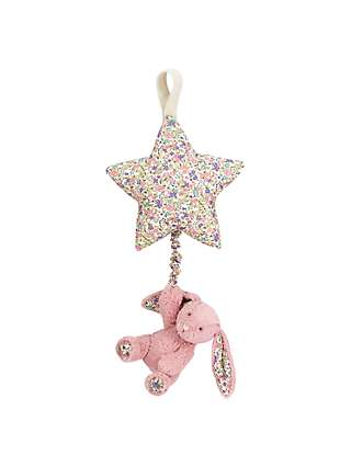 Jellycat Blossom Bunny Musical Pull Soft Toy, Pink