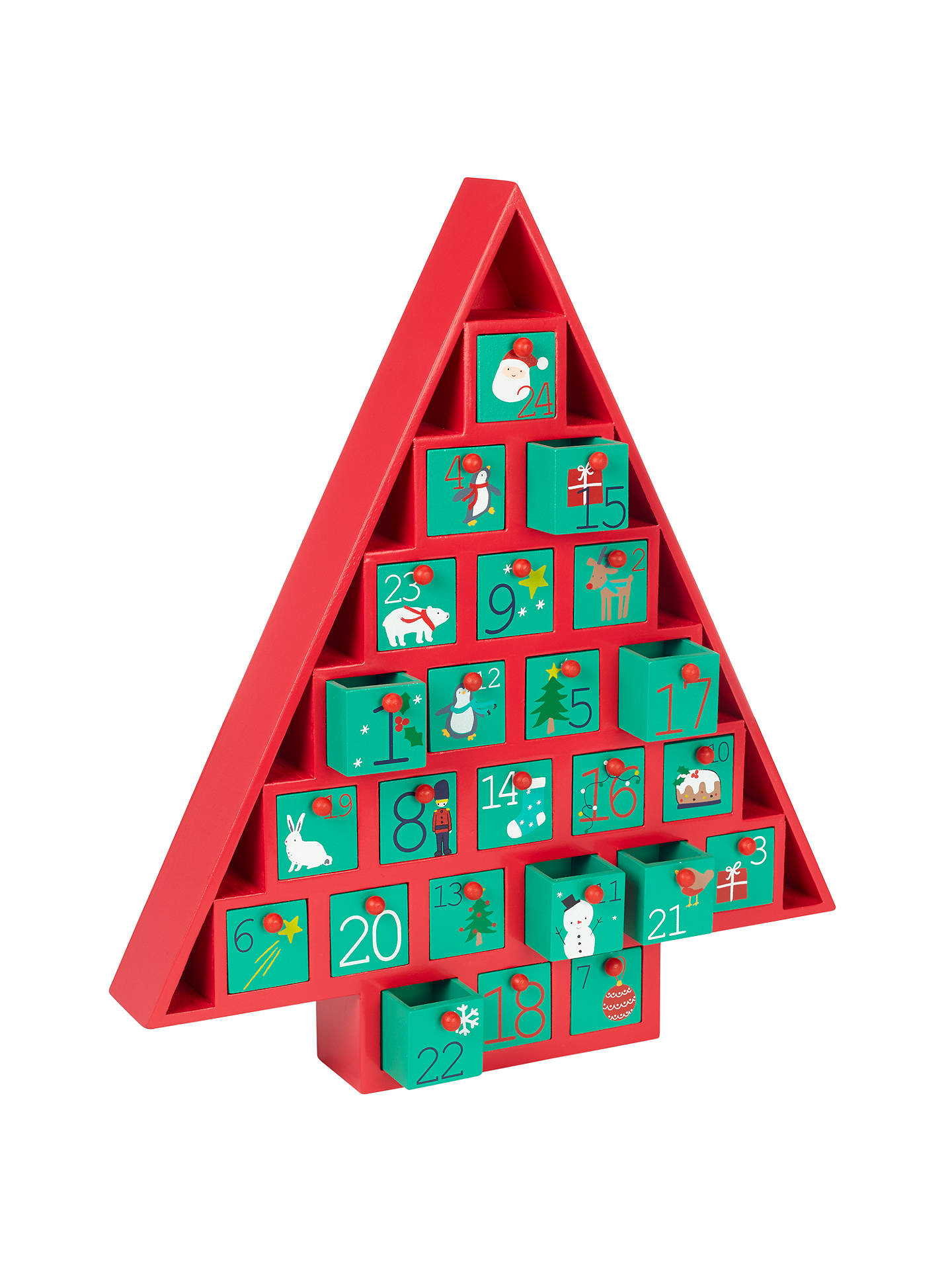 Buy John Lewis Wooden Tree Advent Calendar Online at johnlewis.com