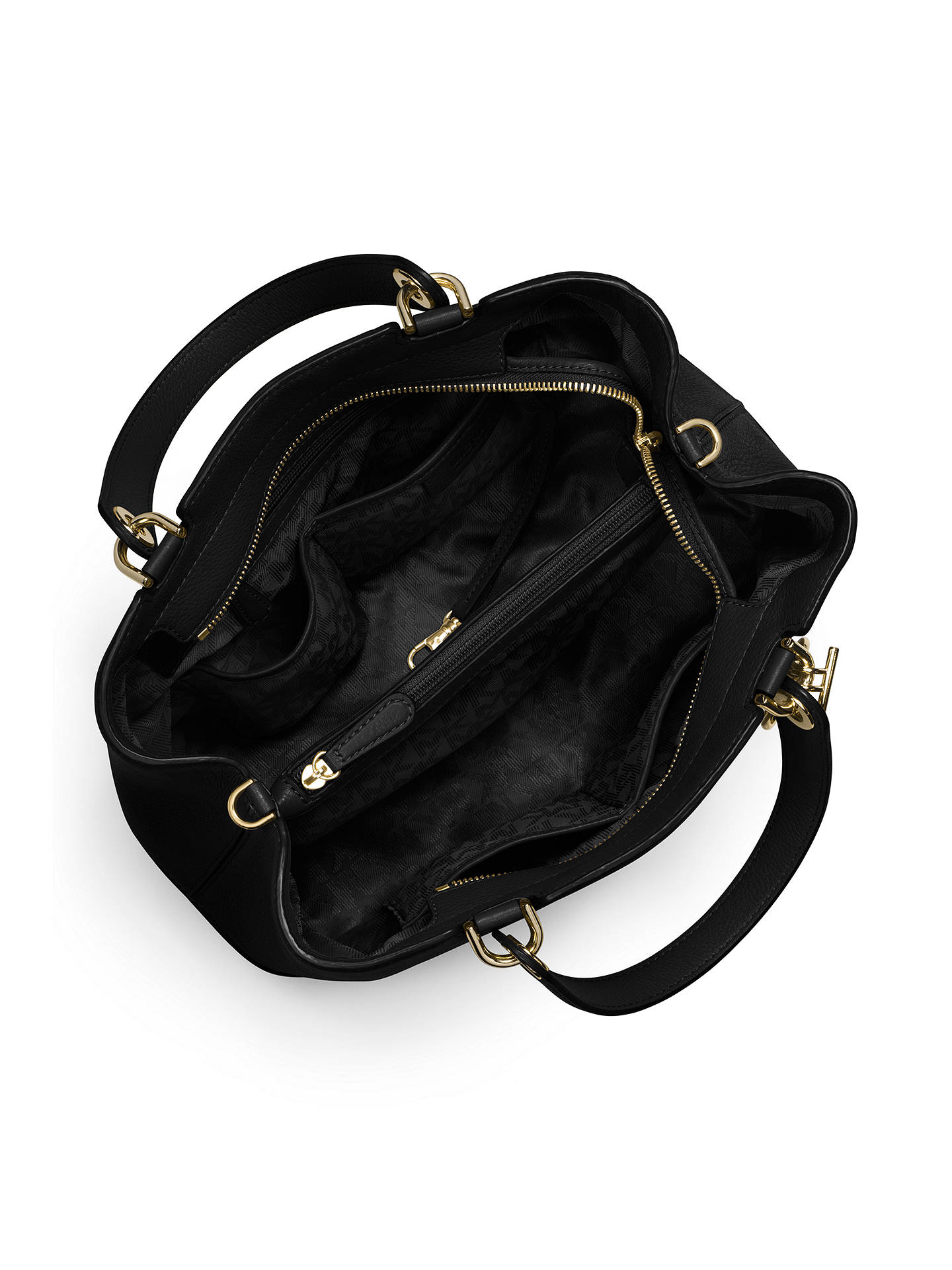 c74ff42e2b29 ... Buy MICHAEL Michael Kors Anabelle Large Top Zip Leather Tote Bag, Black  Online at johnlewis ...