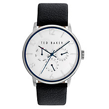 Buy Ted Baker Men's James Chronograph Day Date Leather Strap Watch Online at johnlewis.com