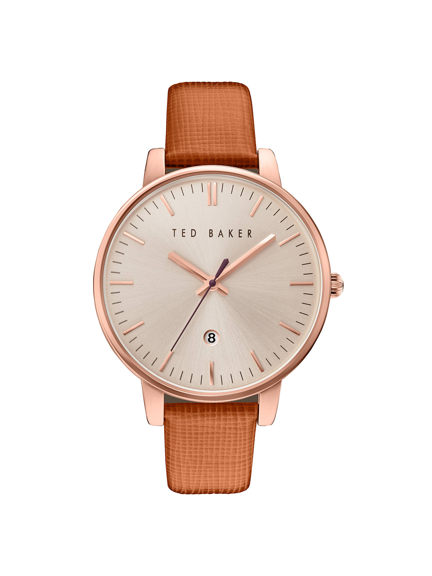 e447640ea2f4 Ted Baker Women s Kate Date Leather Strap Watch at John Lewis   Partners