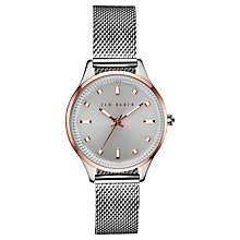 Buy Ted Baker TE10031190 Women's Zoe Bracelet Strap Watch, Silver Online at johnlewis.com