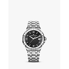 Buy Maurice Lacroix AI1008-SS002-330-1 Men's Aikon Date Bracelet Strap Watch, Silver/Black Online at johnlewis.com
