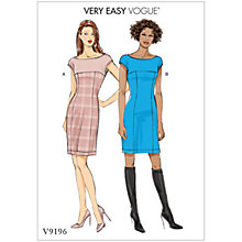 Buy Vogue Misses' Women's Princess Seam and Yoke Dress Sewing Pattern, 9196 Online at johnlewis.com