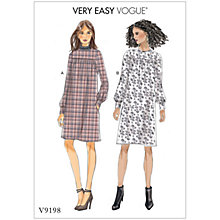 Buy Vogue Women's Gathered Dress Sewing Pattern, 9198 Online at johnlewis.com