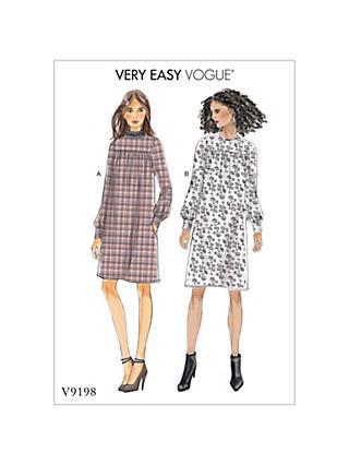 Pattern Design Clothing | Vogue Sewing Patterns John Lewis Partners