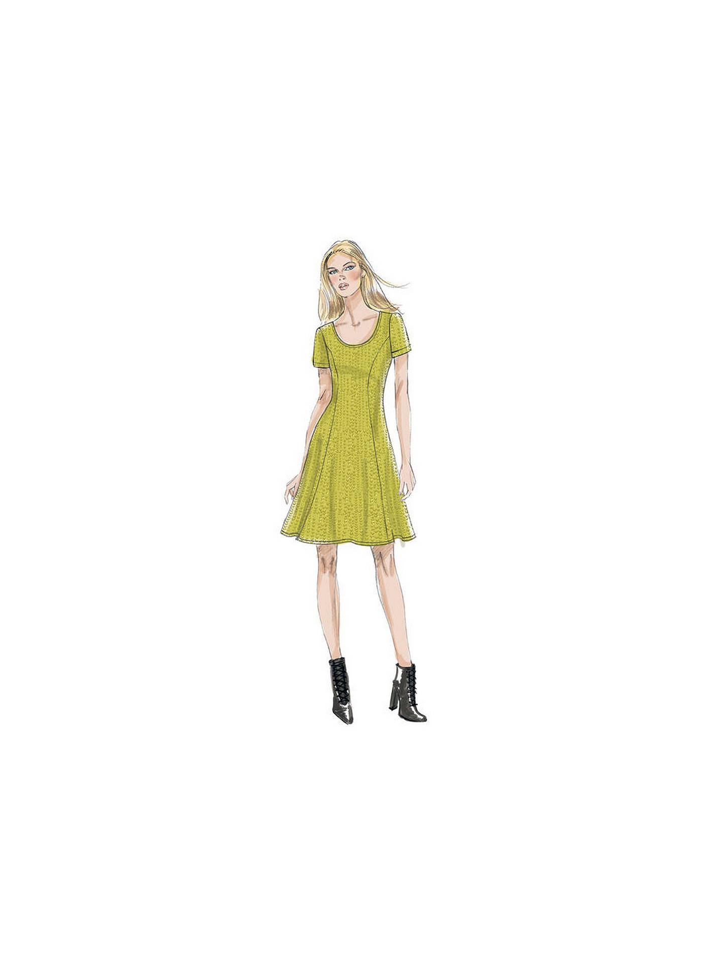 Vogue Women\'s Knit Dress Sewing Pattern, 9199 at John Lewis & Partners