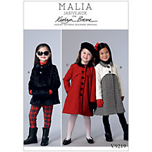 Buy Vogue Children's Coats and Muff Sewing Pattern, 9219 Online at johnlewis.com