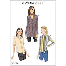 Buy Vogue Women's Tops Sewing Pattern, 9204 Online at johnlewis.com