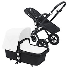 Buy Bugaboo Cameleon3 Pushchair Base Unit and Carrycot, Black/Black Online at johnlewis.com