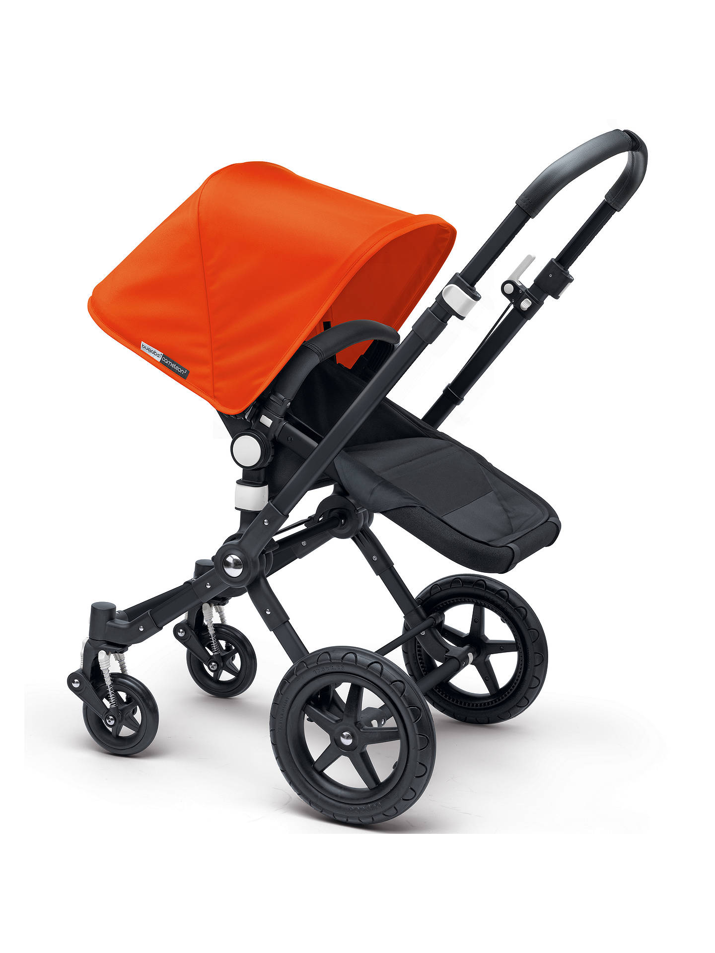 BuyBugaboo Cameleon3 Pushchair Base Unit and Carrycot, Black/Black Online at johnlewis.com