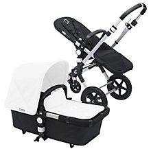 Buy Bugaboo Cameleon3 Pushchair Base Unit and Carrycot 2016, Aluminum/Black Online at johnlewis.com