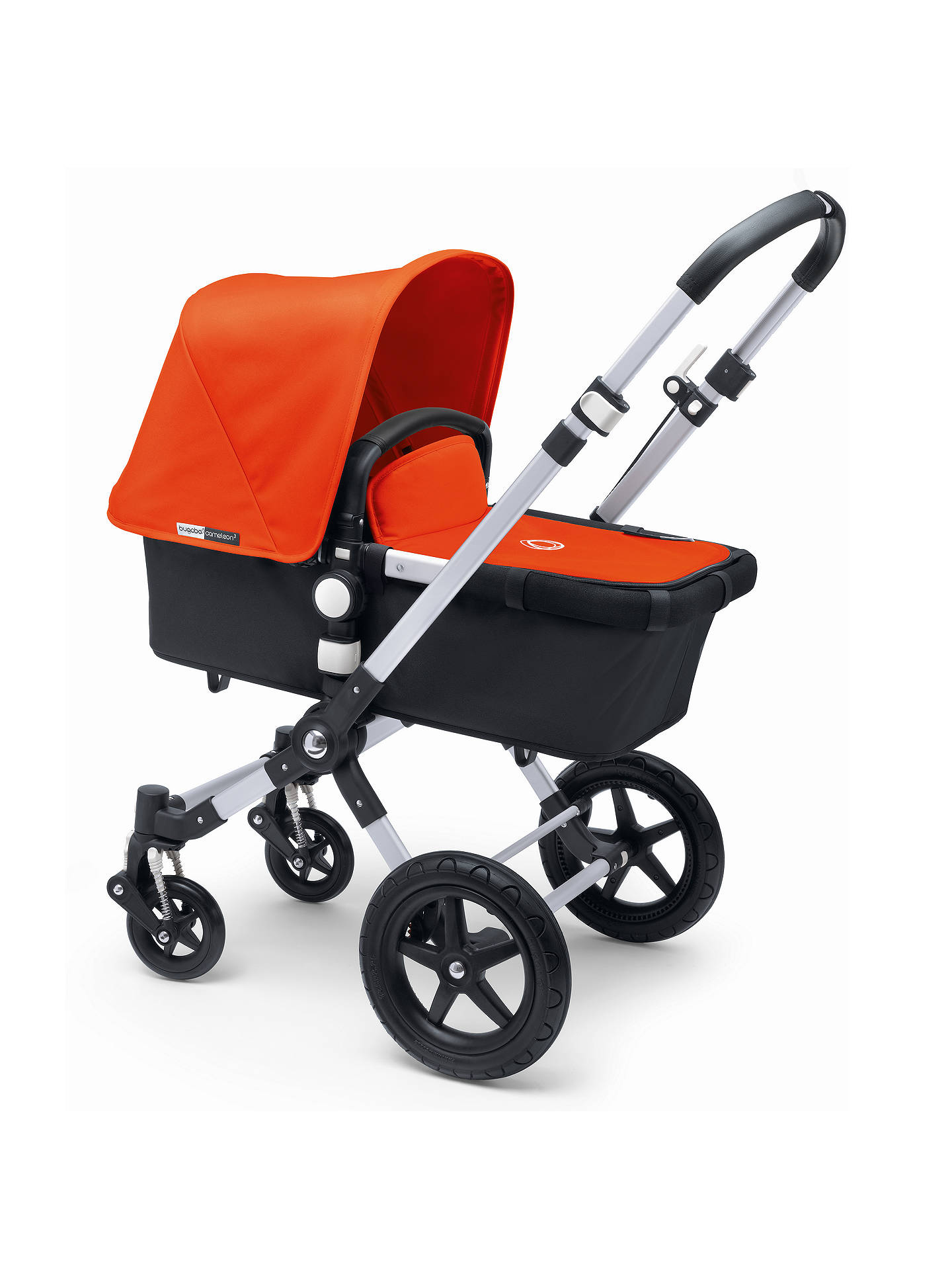 BuyBugaboo Cameleon3 Pushchair Base Unit and Carrycot, Aluminum/Black Online at johnlewis.com