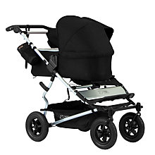 Buy Mountain Buggy Duet Single Family Pack Pushchair, Black Online at johnlewis.com