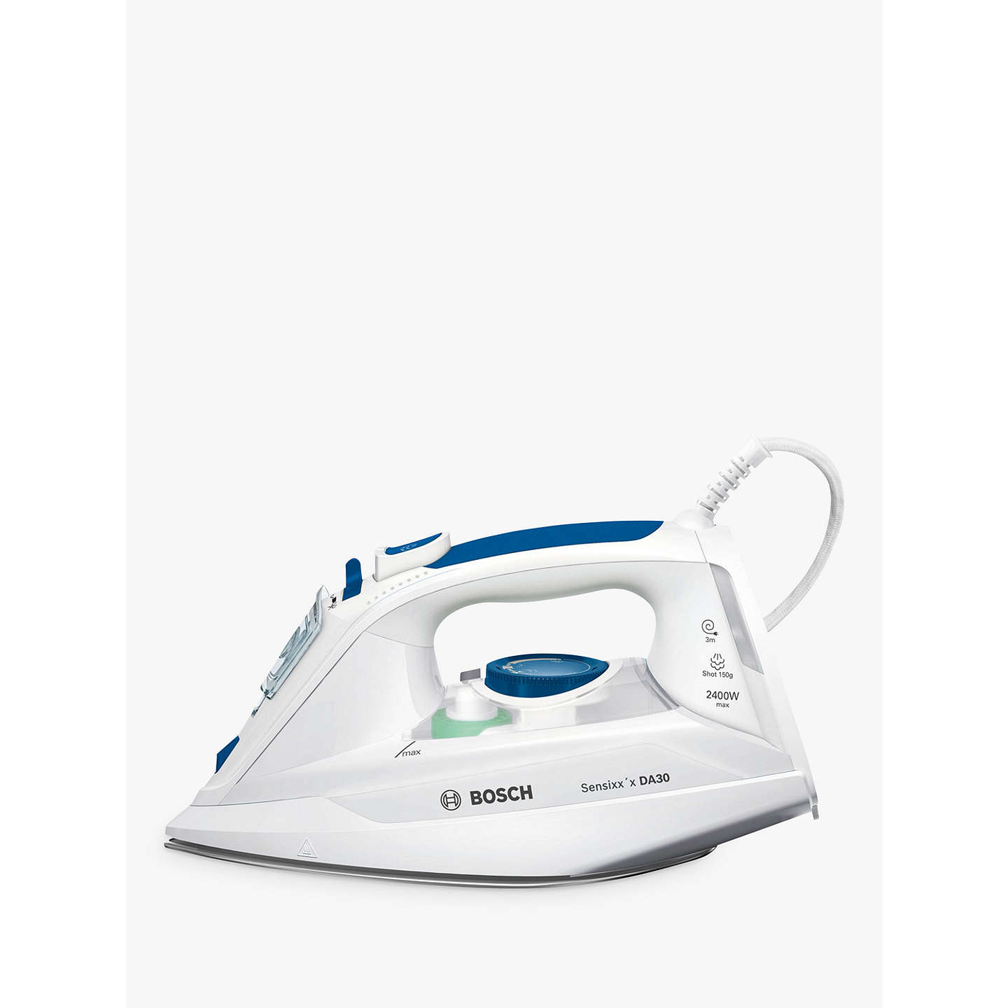 bosch tda3010gb steam iron blue white at john lewis. Black Bedroom Furniture Sets. Home Design Ideas