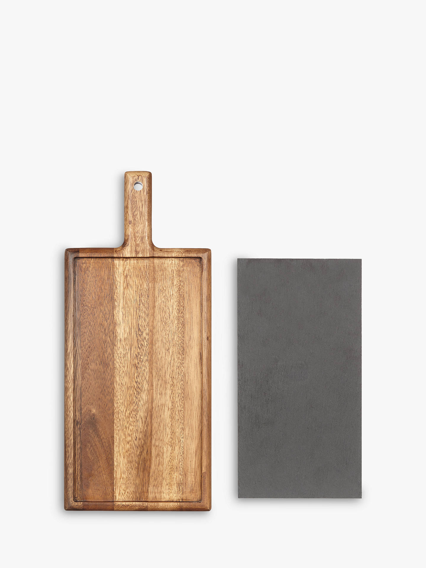 BuyJohn Lewis & Partners Serving Board, Acacia Wood & Slate Online at johnlewis.com
