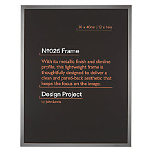 Buy Design Project by John Lewis No.026 Metal Photo Frame, 30 x 40cm Online at johnlewis.com