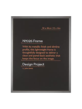 Design Project by John Lewis No.026 Metal Photo Frame, 30 x 40cm