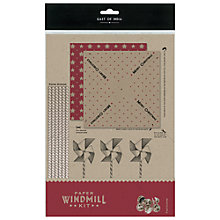 Buy East of India Christmas Paper Windmill Kit, Brown/Red Online at johnlewis.com