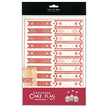 Buy East of India Tiny Christmas Cake Flag Kit, Red Online at johnlewis.com