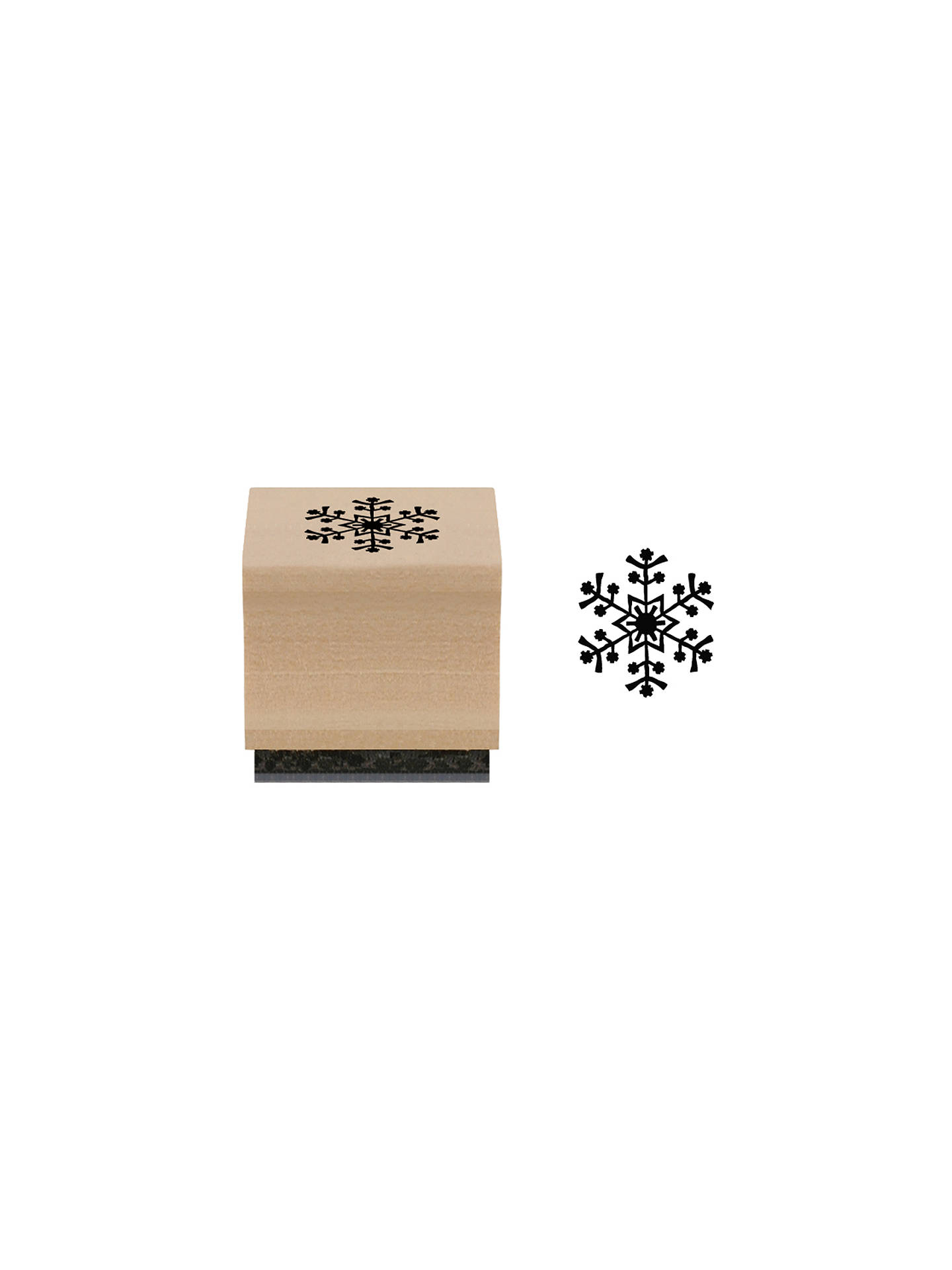 BuyEast of India Rubber Snowflake Stamp Online at johnlewis.com