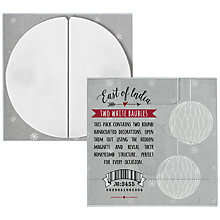 Buy East of India Paper Baubles, Pack of 2, White Online at johnlewis.com