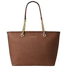 Buy MICHAEL Michael Kors Jet Set Chain Leather Tote Bag, Luggage Online at johnlewis.com