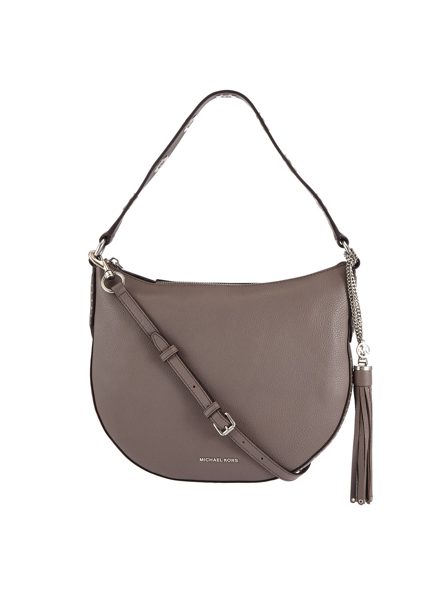 98f622bf69f3 Buy MICHAEL Michael Kors Brooklyn Large Convertible Leather Hobo Bag, Cinder  Online at johnlewis.