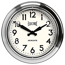 Buy Newgate Giant Electric Wall Clock, Silver Online at johnlewis.com