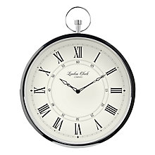 Buy London Clock Company Fob Wall Silver Online At Johnlewis