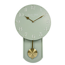 Buy London Clock Company Olivia Pendulum Wall Clock, Sage Online at johnlewis.com