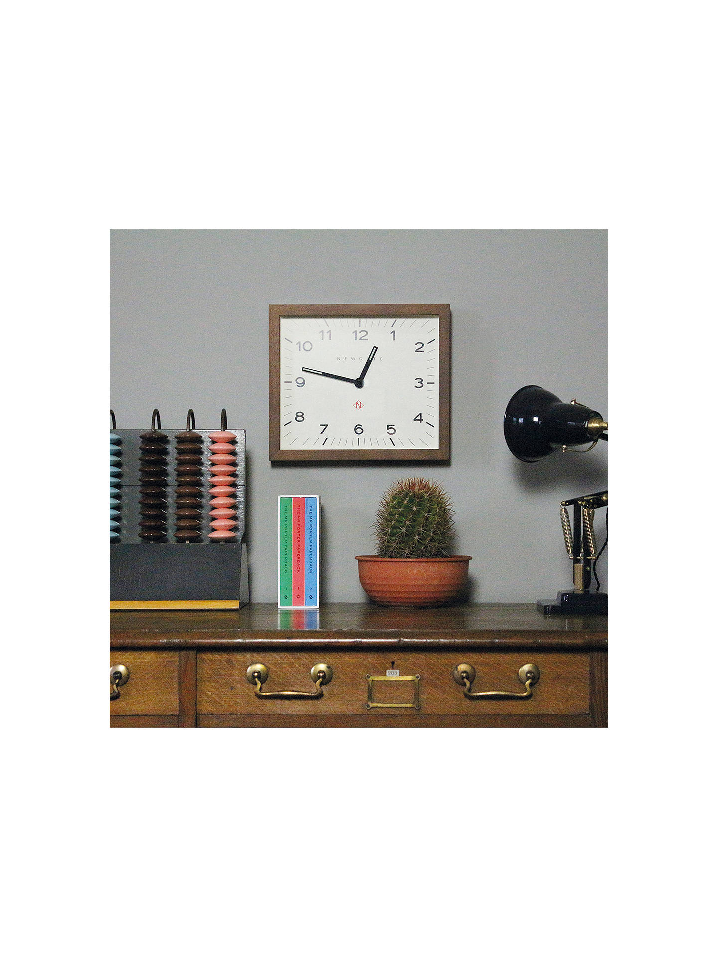 BuyNewgate Mr Davies Wooden Wall Clock, Natural Online at johnlewis.com