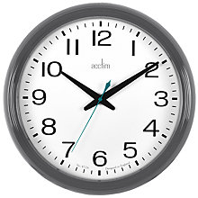 Buy Acctim Penford Wall Clock, Dia.38cm, Grey Online at johnlewis.com