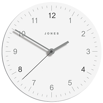 Jones Freddie Glass Clock, Dia.30cm