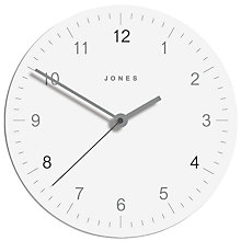 Buy Jones Freddie Glass Clock, Dia.30cm Online at johnlewis.com