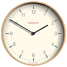 Buy Newgate Mr Clarke Wooden Wall Clock, Dia.53cm, Pale Wood Online at johnlewis.com